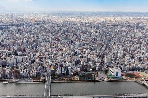 De grootste steden van Japan